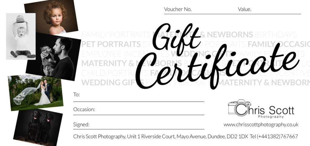 Photography gift certificate from Chris Scott Photography.